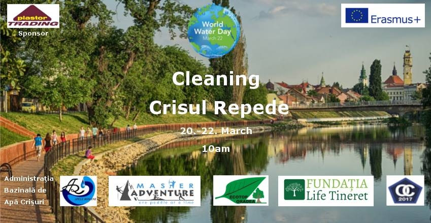 Cleaning the river Crisul Repede